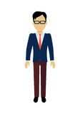 Man Character Template Vector Illustration. Royalty Free Stock Images