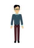 Man Character Template Vector Illustration. Stock Photo