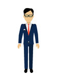 Man Character Template Vector Illustration. Royalty Free Stock Photography