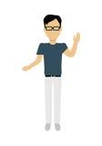 Man Character Template Vector Illustration. Stock Photos