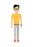 Man Character Template Vector Illustration. Stock Images