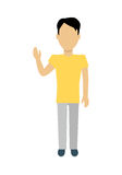 Man Character Template Vector Illustration. Stock Photography
