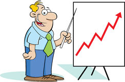 Man with a chart Stock Photos