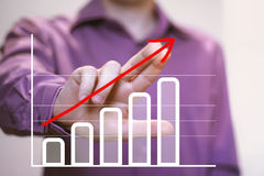 Man with chart business marketing strategy Royalty Free Stock Photography