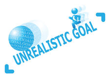 Free Man Chasing After Unrealistic Goal Illustration Royalty Free Stock Image - 34142566