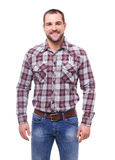 Man in checked shirt Royalty Free Stock Image