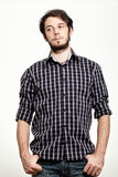 Man with Checkered Shirt Royalty Free Stock Photo