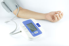 Man checking blood pressure Stock Images