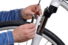 Bike Tuning Stock Photography