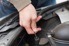 Man checking the engine of his car Royalty Free Stock Image