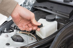 Man checking the engine of his car Royalty Free Stock Photo