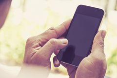 Man checking his phone background Royalty Free Stock Photography