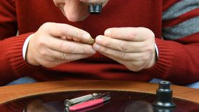 Man checking his watch 01 stock video