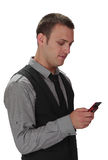 Man checking the phone Royalty Free Stock Images