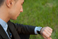 Man checking the time Royalty Free Stock Image