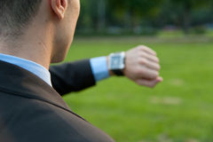 Man checking the time Royalty Free Stock Photo
