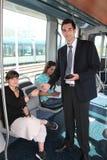 Man checking tram tickets Royalty Free Stock Photo