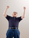 Man cheering and celebrating his success Royalty Free Stock Photos