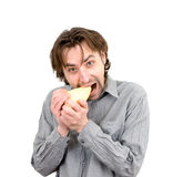 Man with cheese Stock Photography