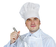 Man in chef hat Stock Images