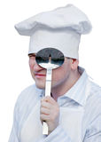 Man in chef hat Royalty Free Stock Image