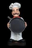 A man chef holding pan Stock Photos