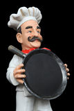 A man chef holding pan Stock Image