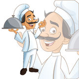 Man chef kitchen restaurant design Stock Photo