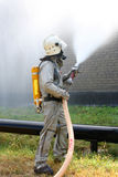 Man in chemical protection suit Royalty Free Stock Photos
