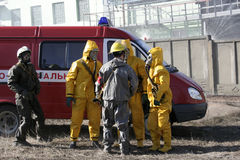 Man in chemical protection suit, Royalty Free Stock Photos