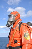 Man in chemical suit Royalty Free Stock Photography
