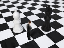 Man on chessboard Royalty Free Stock Photos