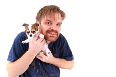 Man and chihuahua Royalty Free Stock Images