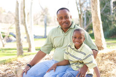 Man and Child Having Fun Royalty Free Stock Photography