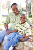 Man and Child Having Fun Royalty Free Stock Image