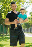 Man and child royalty free stock photos