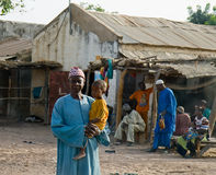 Man and child in Senegal Stock Photography