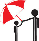 Man child and umbrella Stock Photography