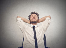 Relaxed man. Man chilling out after work Royalty Free Stock Photos