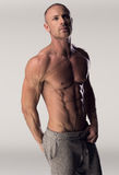 Man with chiseled chest and abs Royalty Free Stock Photo