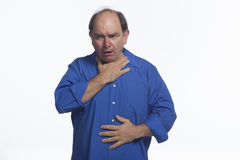 Man choking, horizontal Royalty Free Stock Images