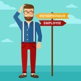 Man choosing career way. Royalty Free Stock Images