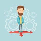 Man choosing career way vector illustration. Stock Image