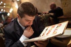 Man Choosing Food Stock Image