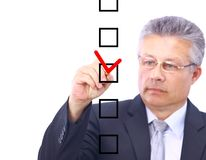 Man choosing one Stock Photography