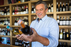 Man choosing wine Royalty Free Stock Photo