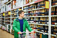 Man choosing wine Royalty Free Stock Photo