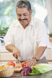 Man Chopping Vegetables Royalty Free Stock Photo