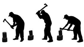 Man chopping woods Royalty Free Stock Image