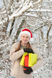 Man with Christmas Royalty Free Stock Image